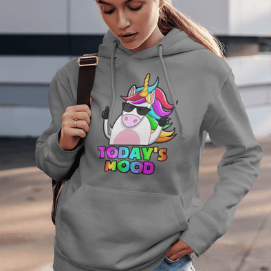 Today's Mood-Unicorn Apparel Apparel TeeInBlue