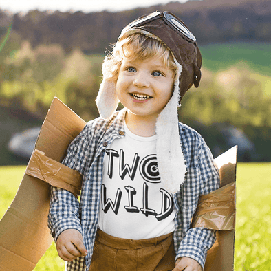 Two Wild Toddler Apparel Apparel TeeInBlue