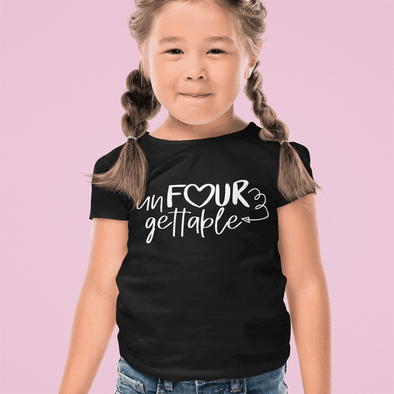 Un-Four-gettable Toddler T-shirt Customizer TeeInBlue