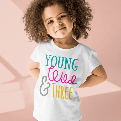Young Wild & Three Toddler T-shirt Apparel TeeInBlue