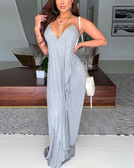 Load image into Gallery viewer, V-NECK BACKLESS MAXI DRESS