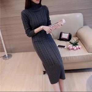 CASHMERE LONG SWEATER DRESS
