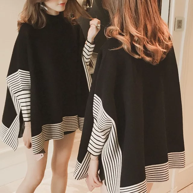 WESTERN STYLE BATWINGS SLEEVES THICK CAPE