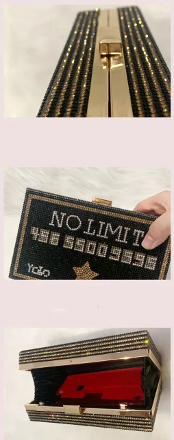 BLACK BLING CREDIT CARD NO LIMIT CLUTCH PURSE