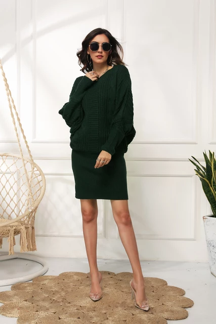 OVERSIZED PULLOVER SWEATER DRESS