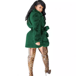 Load image into Gallery viewer, WINTER SEXY FASHION RABBIT FUR COAT