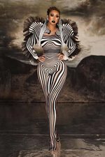 Load image into Gallery viewer, ZEBRA LIFE STYLE JUMPSUIT