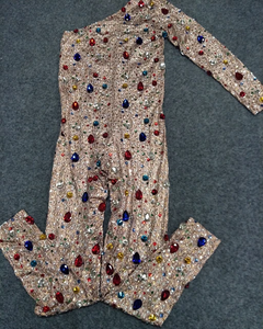RAINBOW BLING BIRTHDAY JUMPSUIT
