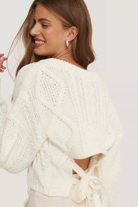 🔥WINTER HOT SELLING BACKLESS V-NECK SWEATER