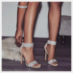 Load image into Gallery viewer, CHUNKY BLING STRAP HEELS