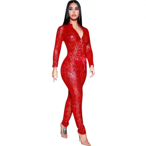 SEQUINS NIGHTOUT ZIPPER JUMPSUIT