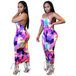Load image into Gallery viewer, SEXY PRINTED BACKLESS MAXI DRESS