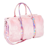 Load image into Gallery viewer, PINK FUR WEEKEND TRAVEL BAG