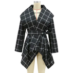 Load image into Gallery viewer, PLAID WOOL ELEGANT COAT