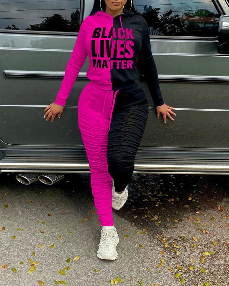 BLACK LIVES MATTER LONG SLEEVES HOODIE SUIT SET