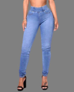 HIGH WAIST FITTED STRETCHY JEANS