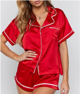 SATIN SHORTS PAJAMAS SET