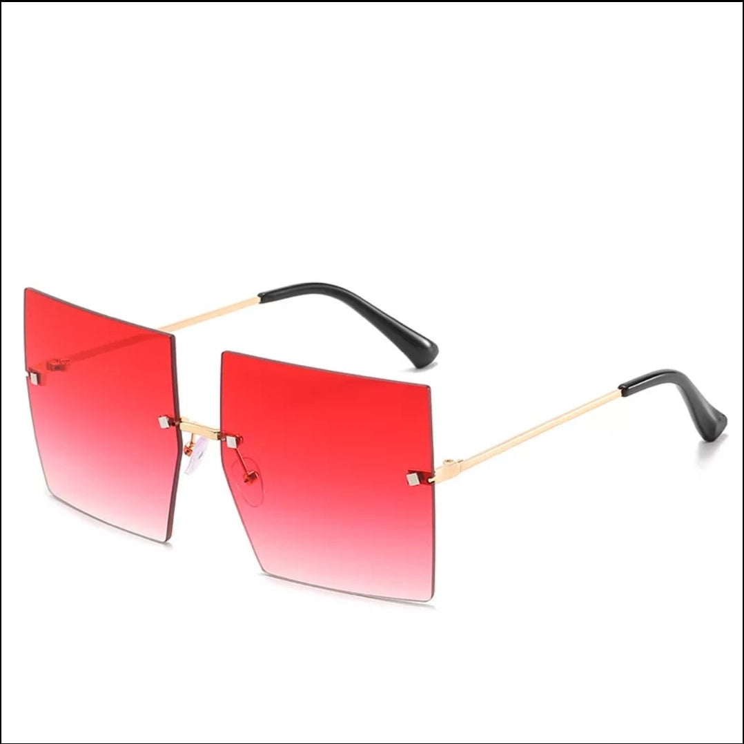 OVERSIZED RIMLESS FASHION SUNGLASSES
