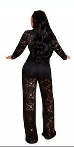 Load image into Gallery viewer, EVENING LACE 2 PIECE PANTS SET