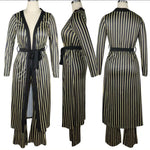 Load image into Gallery viewer, COMFORTABLE STRIPED 2 PIECE CASUAL OUTFIT