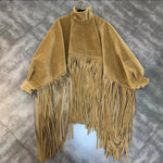 Load image into Gallery viewer, 💋FAUX MINK CASHMERE TASSEL CAPE