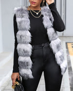 Load image into Gallery viewer, TWO TONE FAUX FUR VEST