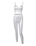 Load image into Gallery viewer, RIBBED CROP TOP & DRAWSTRING PANTS SET Set