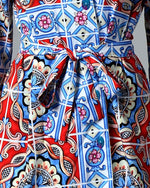 Load image into Gallery viewer, LANTERN SLEEVES ETHNIC PRINT SHIRT DRESS