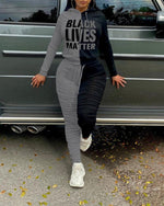 Load image into Gallery viewer, BLACK LIVES MATTER LONG SLEEVES HOODIE SUIT SET