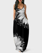 Load image into Gallery viewer, FLORAL PRINT SPAGHETTI STRAP MAXI DRESS