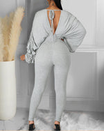 Load image into Gallery viewer, SEXY THICK PLAIN LONG SLEEVES FITTED JUMPSUIT
