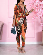 Load image into Gallery viewer, TIE DYE LEOPARD LONG SLEEVES 2 PIECE SET