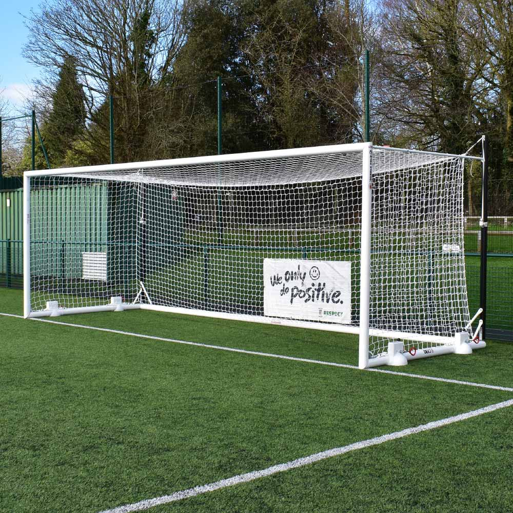 DEVOSHIFT TOP FLIGHT PORTABLE ALUMINIUM 24 X 8 FOOTBALL GOAL PACKAGE (Pair)