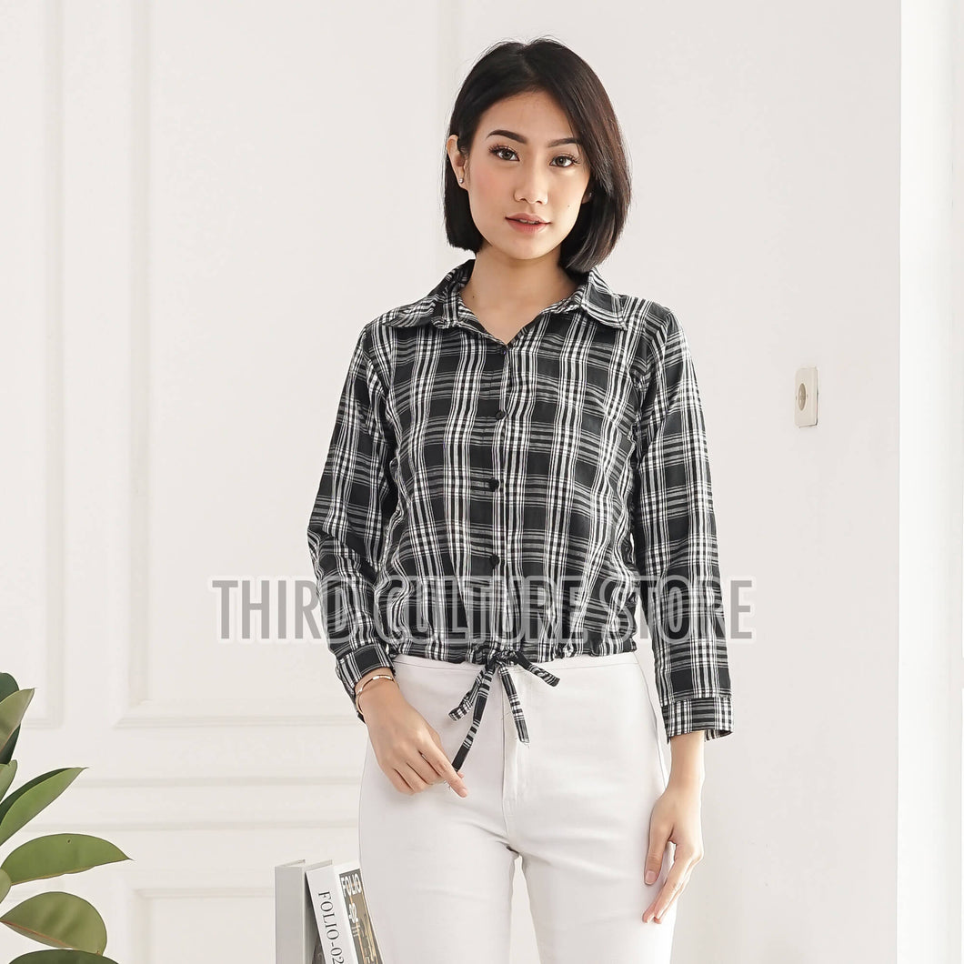 Women's Flannel Crop Shirt