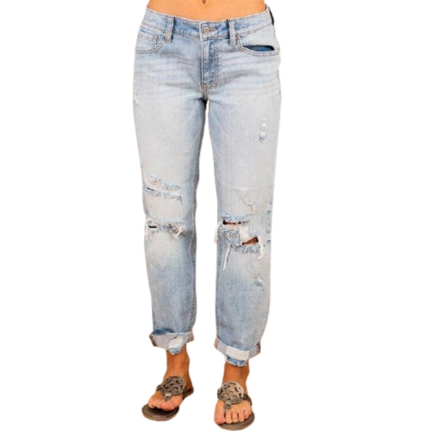 Wide Leg Ripped Official All Match Jeans