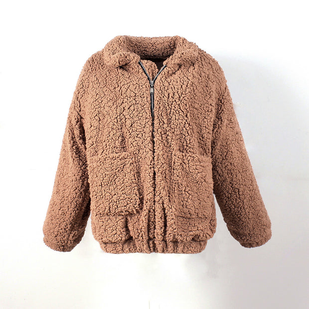 Elegant Faux Fur Soft Fleece Jacket