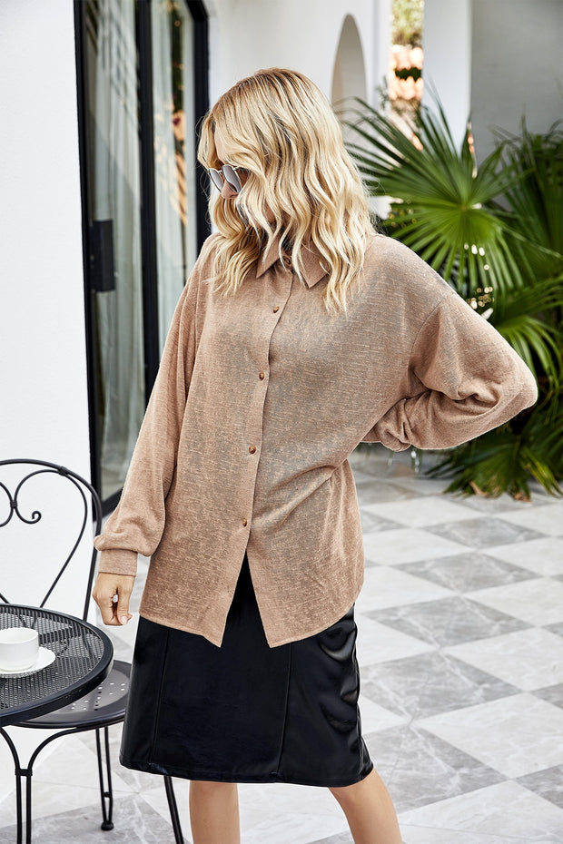 Solid Elegant Loose Blouse