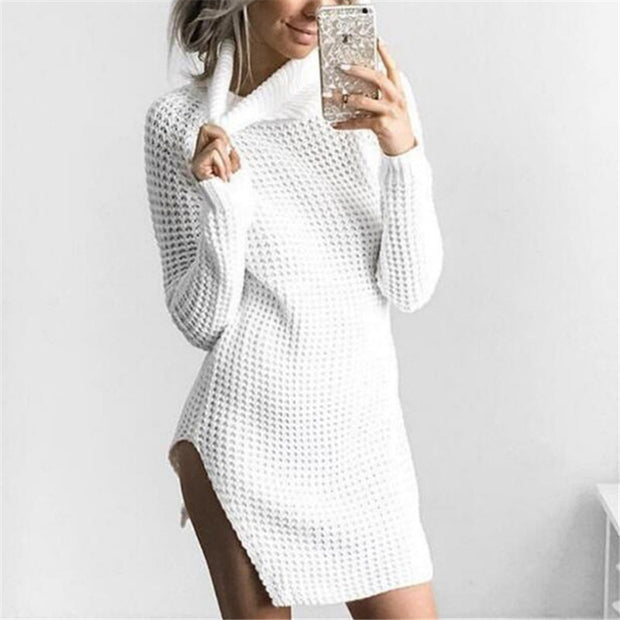 Maxi Turtleneck Sweater Tunic