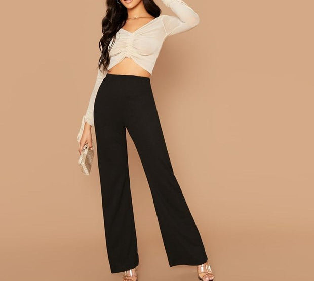 Loose Office Stretchy Palazzo Pants