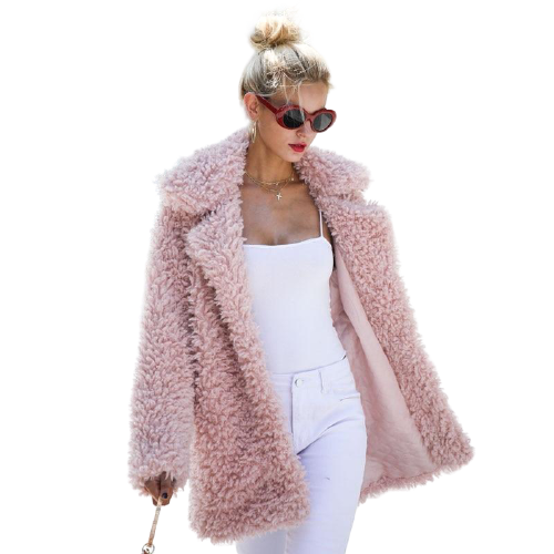 Warm Winter Faux Fur Coat