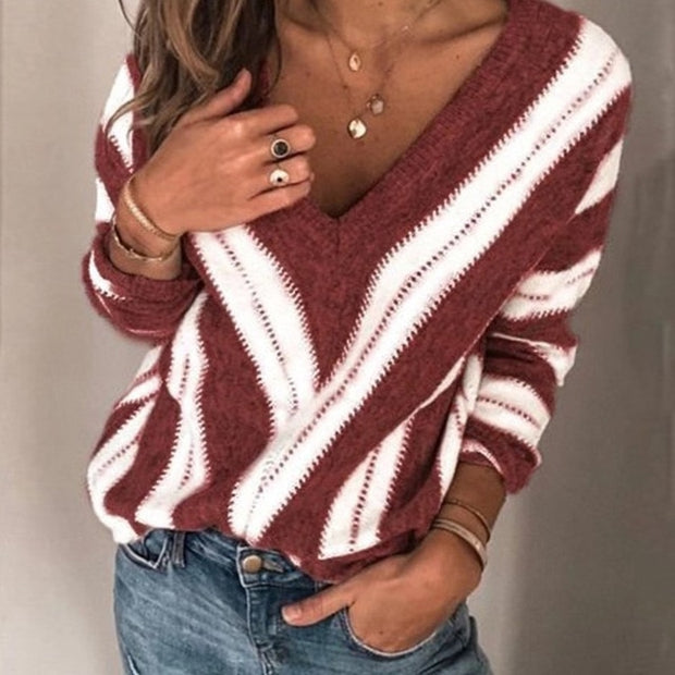 Sexy Thin Stripe Sweater