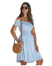 Casua Striped Cotton Knee Dress