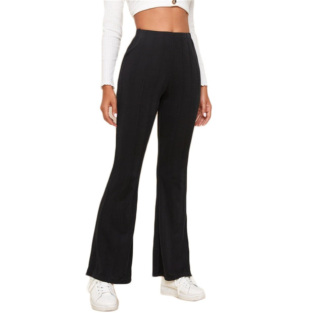 Vintage Style Flare Leg Trousers
