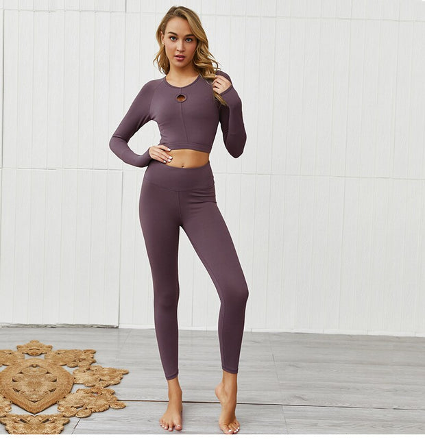Fitness Long Sleeve Shirt Sport Set