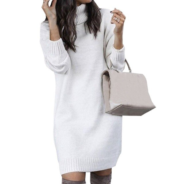 Turtleneck Long Knit Sweater