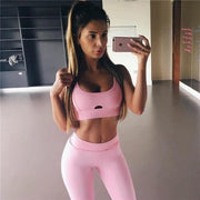 Pink Absorb Sweat Fitness Suit