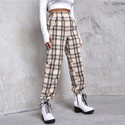 Preppy Casual Plaid Tartan Pants