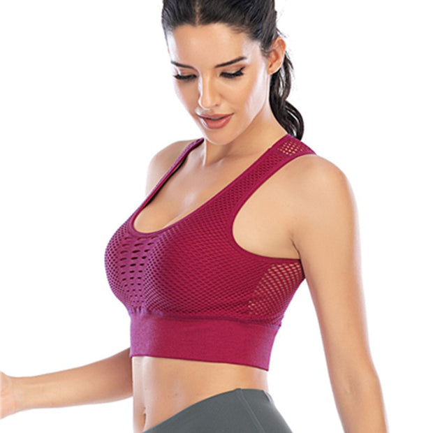 Fitness Sexy Mesh Breathable Bra