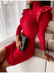 Fashion Turtleneck Bodycon Dress