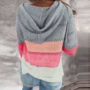 Plus Size Patchwork Cardigan